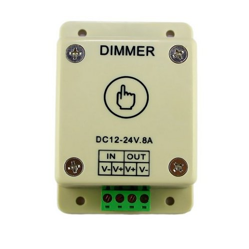 Amerlight Tm Strip Led Lights Touch Pwm Dimmer Dimming Controller Ribbon With Dc Plug Jack-Single Color Wall-Mount
