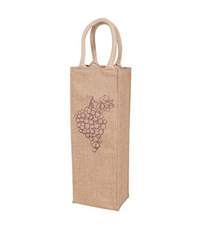 KAF Home Bring It Grapes Wine Tote, Purple