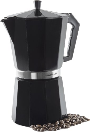 Andrew James Barista Coffee Maker Reviews : Andrew James 12 Cup Black Espresso Coffee Percolator In A Traditional Italian Style Design For ...