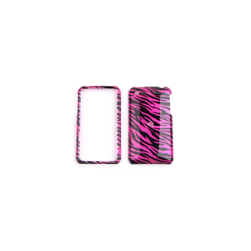 Apple iPhone 3G/3GS   Transparent Design,Hot Pink Zebra   Hard Case/Cover/Faceplate/Snap On/Housing/Protector Cell Phones & Accessories