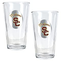 USC Trojans NCAA 2pc Pint Ale Glass Set by Great American