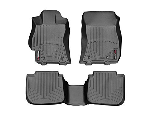 2015-2016 Subaru Legacy-Weathertech Floor Liners-Full Set (Includes 1st and 2nd Row) Black (Weathertech 447082 compare prices)