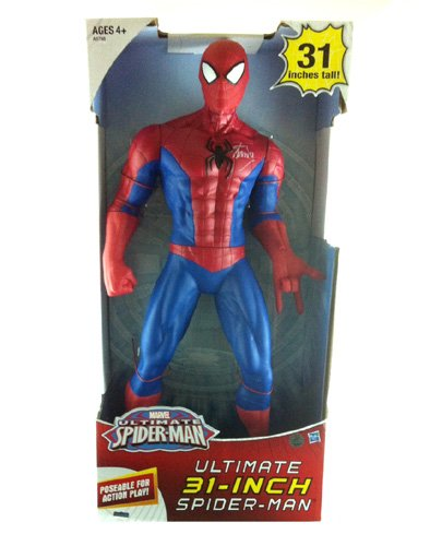 """Stan Lee Autographed/Signed Ultimate Spider-Man 31"""" Posable Action Figure In-Box"""