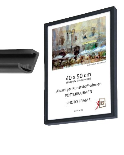 bilderrahmen poster 70 x 100 cm b1 schwarz wechselrahmen fotorahmen. Black Bedroom Furniture Sets. Home Design Ideas