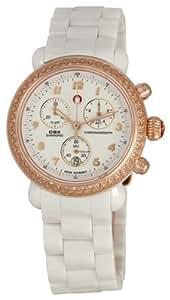 Michele Woman's MWW03N000004 CSX Ceramic White Diamond Rose Gold Watch