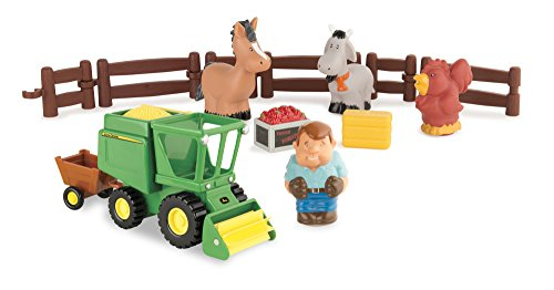 Ertl John Deere 1st Farming Fun Harvest Time Playset Vehicle