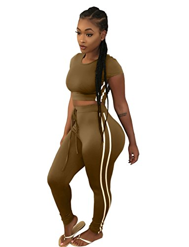 f530d9cef3d7 Sedrinuo Women s Sexy Bodycon Round Neck Hoody Pants 2-Piece Jumpsuit  Sportswear - Best Made Africa