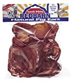 Redbarn Natural Pig Ears Pet Treats Dog Supplies 10 Pieces in the Bag