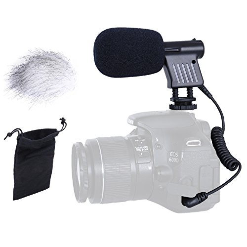 Movo VXR1000 Mini HD Shotgun Condenser Microphone for DSLR Video Cameras (Camera Condenser Microphone compare prices)