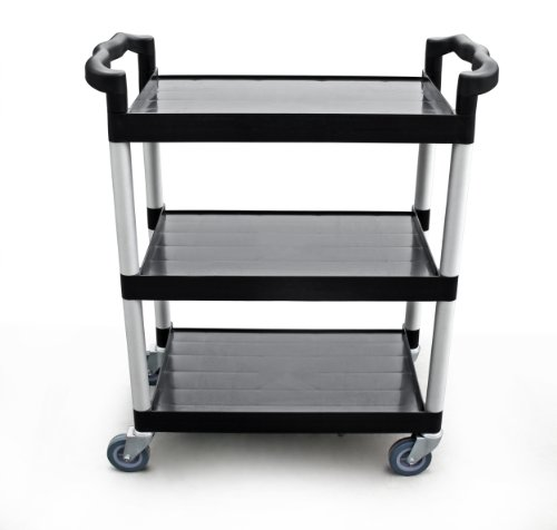 "New Star 1 pc Heavy Duty Utility Cart Bus Cart 350 lbs Load 3 Tier Cart 42-1/2x19-1/2x38-1/2"" Black"