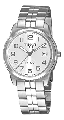 Tissot Men's T0494101103201 PR 100 Silver Dial Bracelet Watch