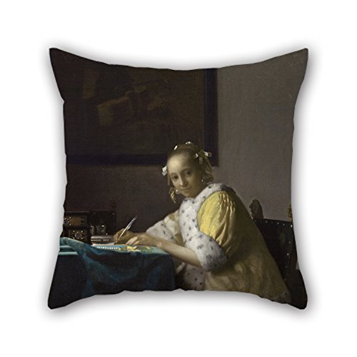 20 X 20 Inches / 50 By 50 Cm Oil Painting Johannes Vermeer - A Lady Writing Cushion Covers ,twice Sides Ornament And Gift To Kids,bf,couch,play Room,home Office,teens Boys (Gold Emblem Gummy Bears compare prices)