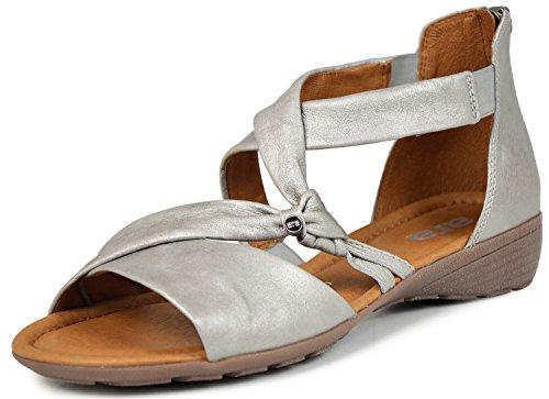 ara - Sandali alla schiava Donna , grigio (Grau ( argento antik-metallic )), 40 EU
