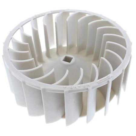Blower Wheel Dryer With White Earbud Headphones