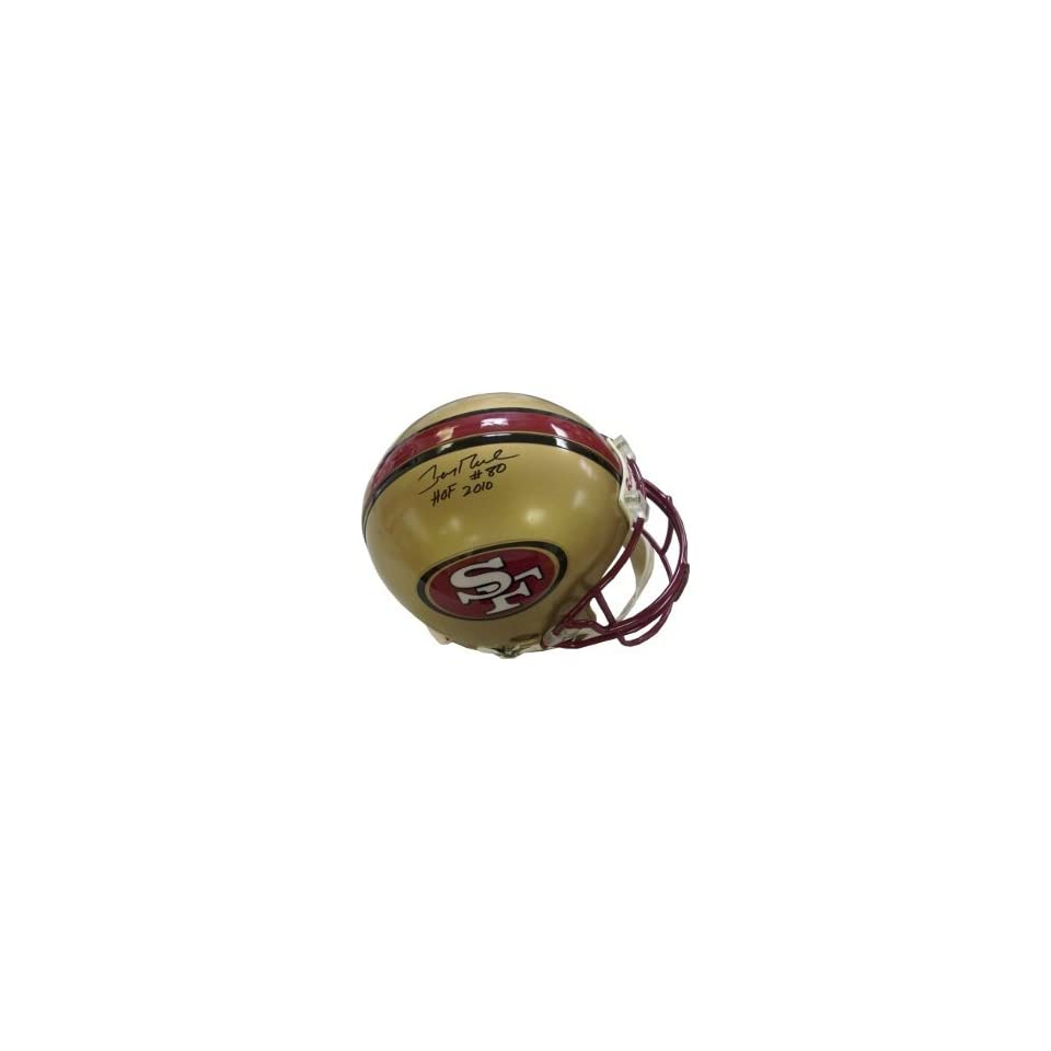Jerry Rice Autographed/Hand Signed San Francisco 49ers Full Size Authentic Proline Helmet HOF 2010