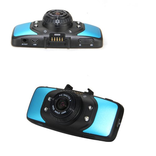 2.7 inch HD TFT LCD Vehicle Car DVR Video Recorder Camera Road Safety Guard Built-in GPS with G-sensor Motion Detection-Blue
