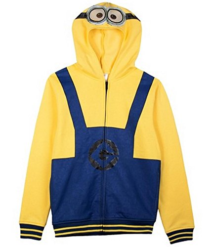 Despicable Me Minion Boys Zip up Costume Hoodie