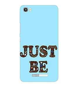 EPICCASE Just Be Mobile Back Case Cover For Lava Iris X8 (Designer Case)