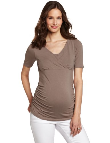 Mothers en Vogue Women's Maternity Xtended Side Ruched Tee