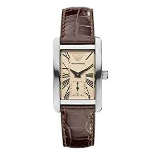 76d76aeea24 Buy Emporio Armani Classic Collection Women s Quartz Watch Brown Dial  Analogue Display and Brown Leather Strap
