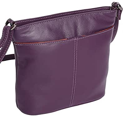 Josephine Osthoff Women's LEATHER Handbag BIARRITZ - Purple - Bag
