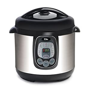 MaxiMatic EPC-807 Elite Platinum 8-Quart Digital Pressure Cooker with Non-Stick Pot, Silver by Maximatic