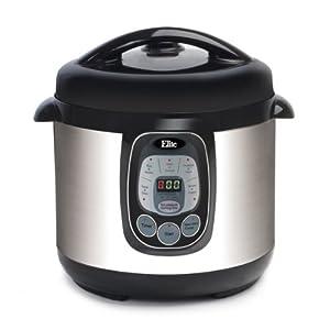 MaxiMatic EPC-807 Elite Platinum 8-Quart Digital Pressure Cooker with Non-Stick Pot, Silver