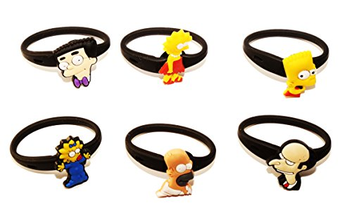 AVIRGO 6 pcs Releasable Ponytail Holder Elastic Rubber Stretchable No-slip Hair Tie Set # 95-6 - 1