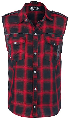 Vixxsin workershirt Diablo senza maniche, colore: nero/rosso Nero-rosso Small