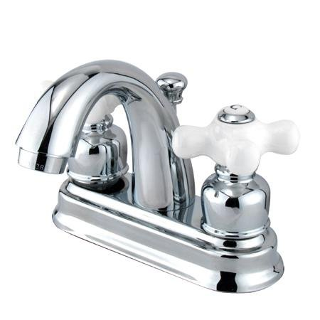 """Elements Of Design Eb5611Px Chicago Two Handle 4"""" Centerset Lavatory Faucet With Pop-Up, Polished Ch"""
