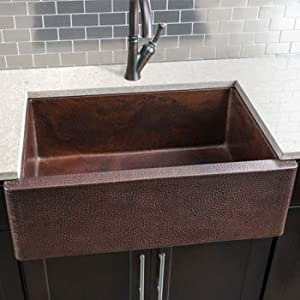 Farmhouse Sinks For Less : Copper Single Bowl Farmhouse Sink These Finely Crafted Copper Sinks ...