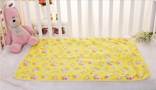 niceeshop(TM) Baby Infant Reusable Cotton Cloth Waterproof Urinal Pad Cover/Mat/Mattress Pad 10pcs reusable baby infant cloth diaper nappy liners insert cotton white reusable newborn baby nappies
