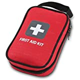 First Aid Kit - 93 Pieces - Bag. Packed with hospital grade medical supplies for emergency and survival situations. Ideal for the Car, Camping, Hiking, Travel, Office, Sports, Pets, Hunting, Home