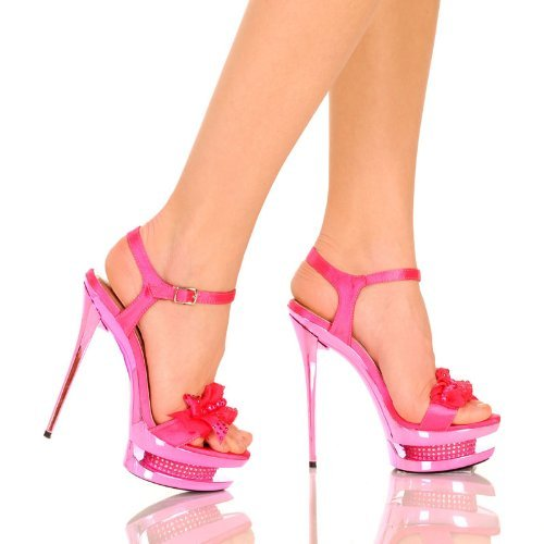 The Highest Heel Womens Diamond Ruffle Rhinestone Stiletto Shoe