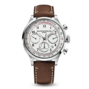 Baume & Mercier Men's 10000 Capeland Silver Chronograph Dial Watch