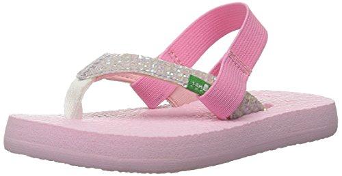 7ebbb781d212 Sanuk Kids Yoga Glitter K Flip Flop (Toddler Little Kid) - Import It All