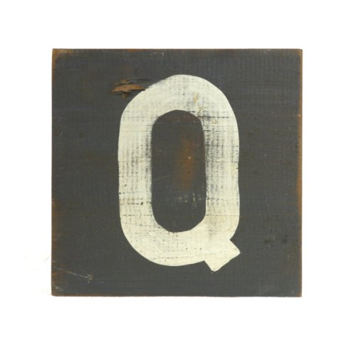 ZENTIQUE Wooden Letter, Small, Monogrammed Q