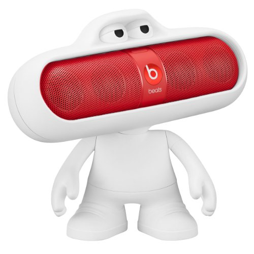 Beats Pill 2.0 Portable Speaker - Red & Dude Character - White (Bundle)