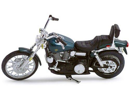Diecast Model Harley Davidson Wide Glide FXWG (1980) (1:18 scale by Maisto) in Dark Green