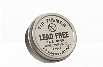 R&R Lotion TIP-T I.C. Lead Free Tip Tinner, 1/2oz Size, For Soldering Iron Tips