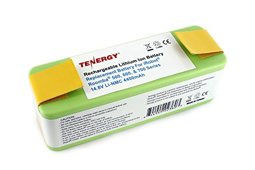Tenergy Replacement Battery For Irobot Roomba 500, 600, & 700 Series 14.8V Li-Nmc 4400Mah Battery