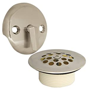 danco 89242 trip lever tub bath drain and overflow trim kit plate in