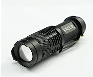 Mini Cree Led Flashlight Torch Adjustable Focus Light Lamp