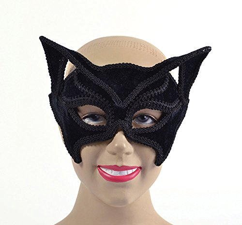 Bristol Novelty Cat Black Glass Frame Eye Masks Women's One Size