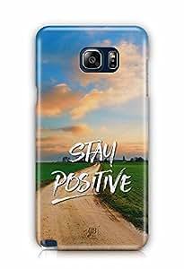 YuBingo Stay Positive Designer Mobile Case Back Cover for Samsung Galaxy Note 5