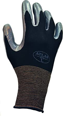 Showa Best 370B Atlas Nitrile Palm Coating Glove, 13-Gauge Seamless Knitted Liner