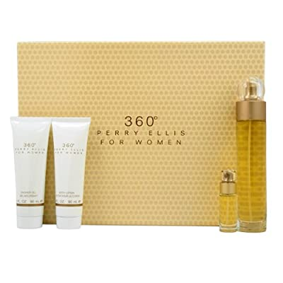 360 By Perry Ellis For Women Gift Set