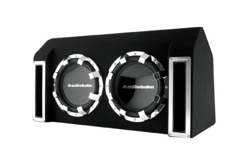 Audiobahn Abb102J 600W Rms, Dual 10-Inch Slot Ported Loaded Subwoofer Enclosure