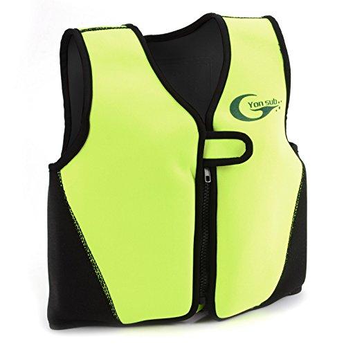 Swimwesten Kinder Schwimmweste Kinder Schwimmhilfe L gelb Floating Jacket