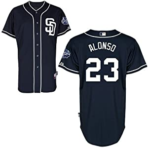 Yonder Alonso San Diego Padres Alternate Navy Authentic Cool Base Jersey by Majestic by Majestic